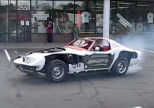 Video: Smoky Donuts in a Cutaway C3 Corvette