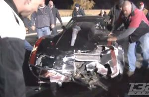 Video: 2000-Horse C3 Corvette Crashes Hard at Great Lakes