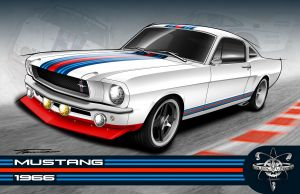 Pure Vision's 1966 Martini T-5R Mustang Heads To SEMA