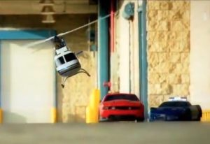 Amazing R/C Car Chase: Mustang vs. Corvettes
