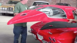 "Video: 1963 Corvette Convertible Gets ""Split Window"" Hard Top"