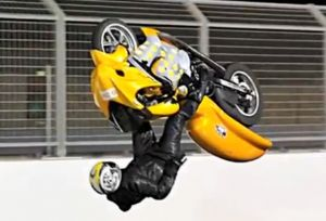 Video: Incredible Drag Bike Back Flip In Bahrain