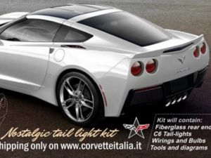 "Body Kit Gives C7 Round C6 Taillights For ""Retro"" Look"