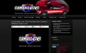 The First 6th-Gen Camaro Website Goes Live