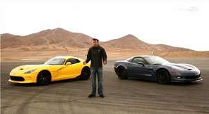 2012 ZR1 VS 2013 Viper – In A Burnout Contest!