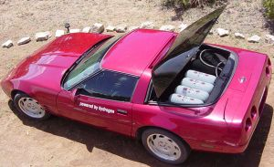 Eccentric Engineer Shows Off Hydrogen-Powered Corvette