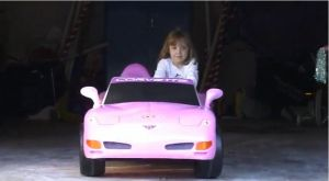 Video: A Little Girl and Her Pink Corvette Are a Heck of a Pair