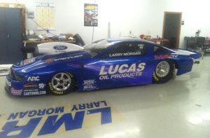 Larry Morgan Shows Off New Colors On Lucas Oil/MAVTV Mustang