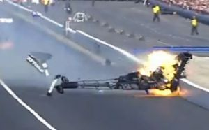 Video: Antron Brown's Harrowing, Fiery Pomona Crash