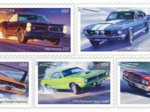 "New ""Muscle Cars Forever"" Postage Stamps Unveiled"