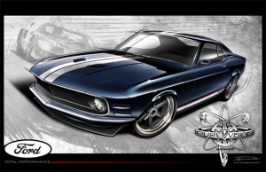 Pure Design Sketches GT40-Inspired 1970 Mustang