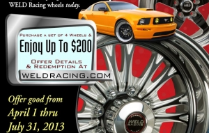 WELD Racing Wheels Offering Spring Rebate Promotion