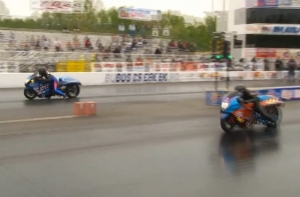 Video: Joey Gladstone's Booming 213 MPH Record Pro Street Bike Lap