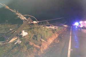 Corvette Crash Knocks Out Power to Thousands in Oregon