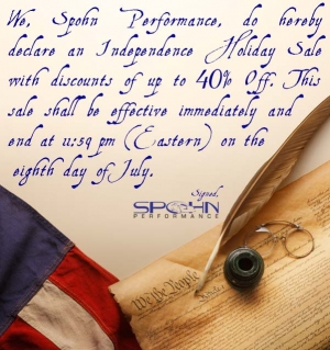 Spohn Performance Independence Day Sale!