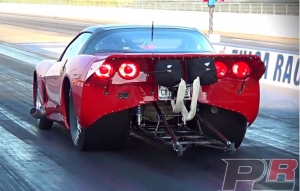 Video: Twin Turbo C6 Corvette Hits the Dragstrip