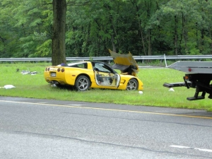 Wrecked Vette Wednesday: When New Jersey Trees Attack