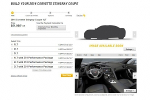 2014 Corvette Stingray Configurator Goes Kinda Live