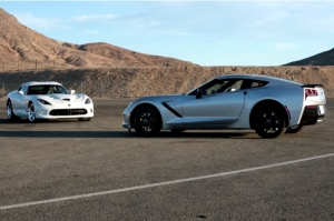 Video: Edmunds Tests C7 Vette Versus SRT Viper