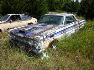 1965 Mercury Comet drag car junkyard