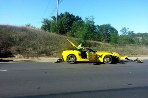 "First ""Customer"" 2014 C7 Corvette Crash Hits the Web"