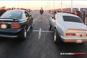 Mustang GT vs Big Block Camaro launch