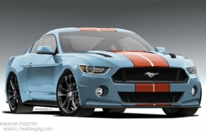 2015 Mustang Gets Rendered In Gulf Livery