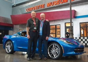 Video: Father of Corvette's Chief Engineer Picks Up His C7 at NCM
