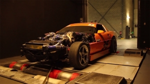 Video: Twin Turbo C4 Corvette On The Dyno In Europe