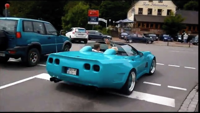 Video german c4 takes wide body to new extremes for Autobahn body and paint
