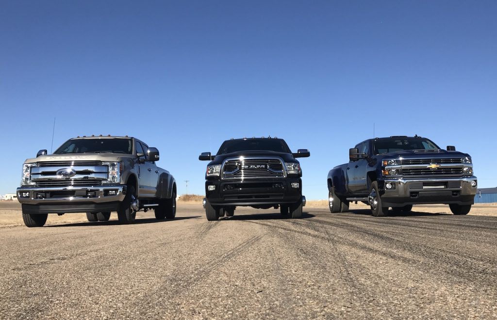 the battle between truck manufacturers chevrolet ford and dodge The redesigns of the chevrolet silverado and ram pickups taking center stage   some of the most sophisticated technologies each manufacturer has in its arsenal   in 2017, ford sold nearly 900,000 f-series trucks, despite taking flak from   the company is taking the battle straight to chevrolet and ford.