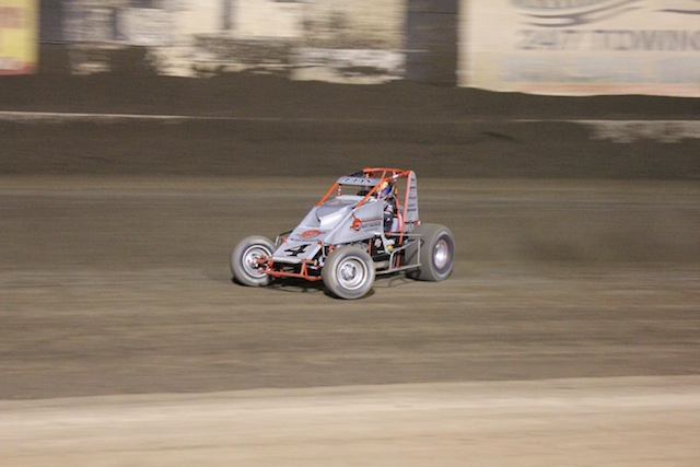 Nic Faas dominated the 410 qualifier on Friday night.