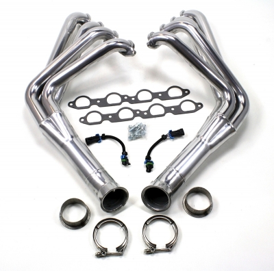 JBA Performance Exhaust offers long-tube headers for LS2, LS3 and LS7-equipped C6 Corvettes. The long-tube design, in general, generally helps build horsepower through less restriction, but that very attribute can also shave a pound-feet off the maximum torque output.