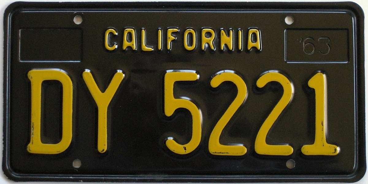 Classic 1950s Through 1970s California License Plates Now Available ...