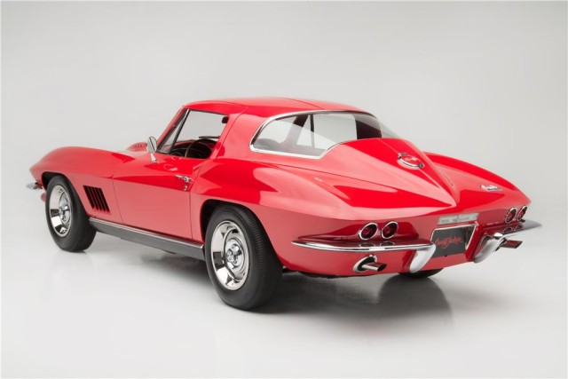 The exclusive red-on-red Chevrolet Corvette is considered to be the best 1967 L88 in the country as judged by National Corvette Restorers Society.