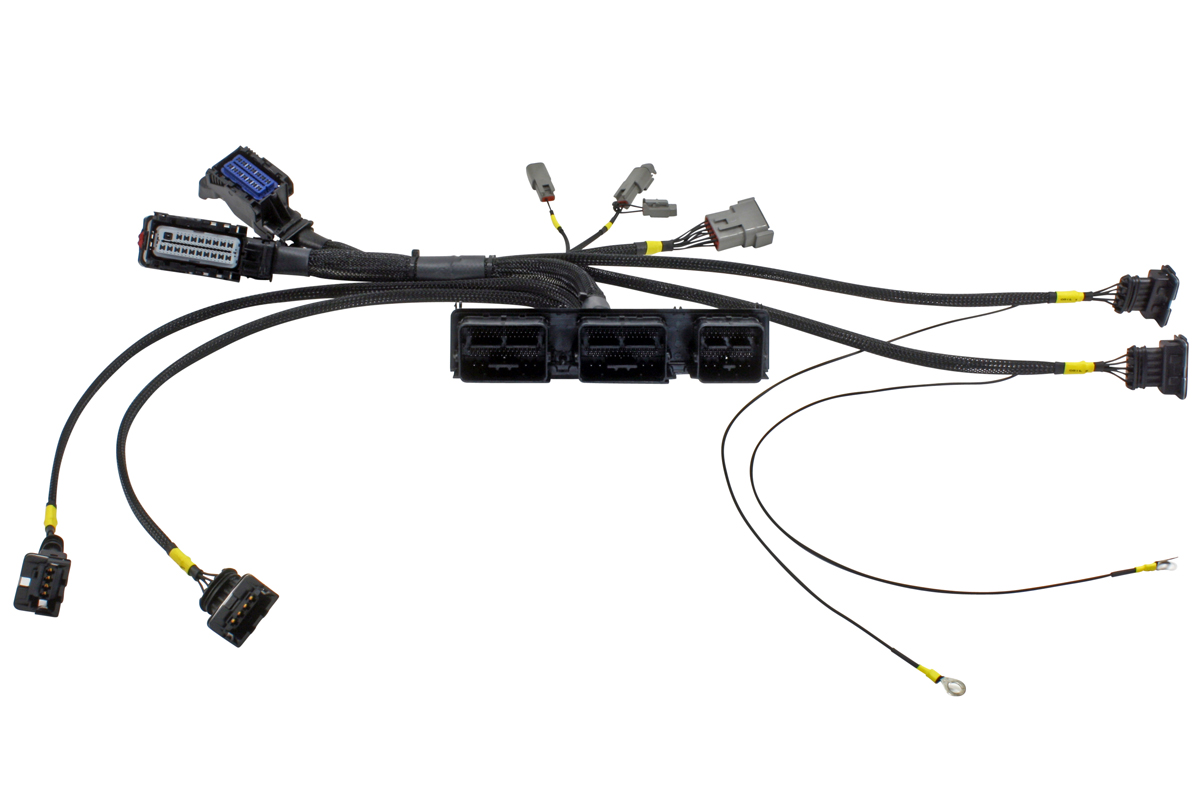 aem debuts infinity ecu plug  u0026 play adapter harness for coyotes