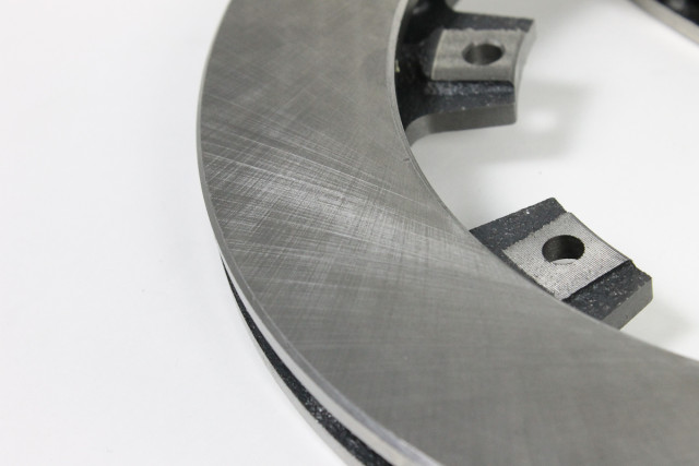 We've opted for solid face rotors for our combination. According to Aerospace's Matt Moody, the solid rotors