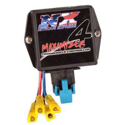The Maximizer 4 from Nitrous Express is a full-featured progressive controller that offers multiple modes of operation, air/fuel ratio correction, and up to 120 amps of power handling capability.