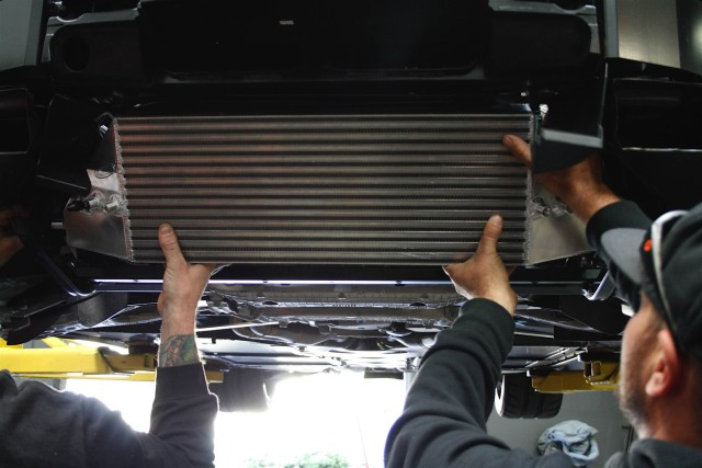 ProCharger offers intercoolers in both horizontal and vertical mount versions. Per Hall, '