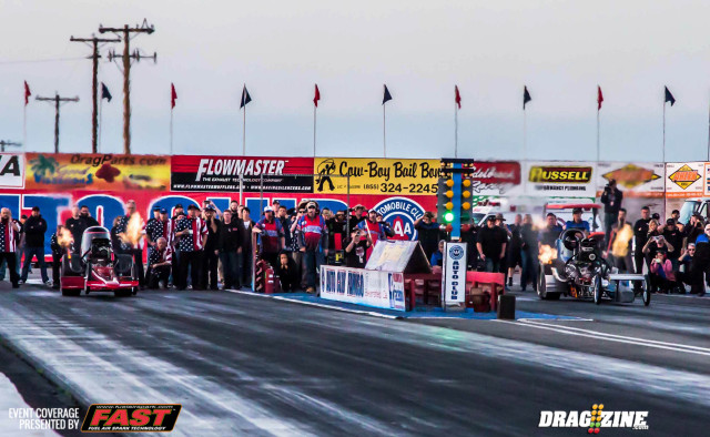 Rick Williamson ( Far Lane) defeated  Adam Sorokin ( Near Lane) for the Top Fuel Title