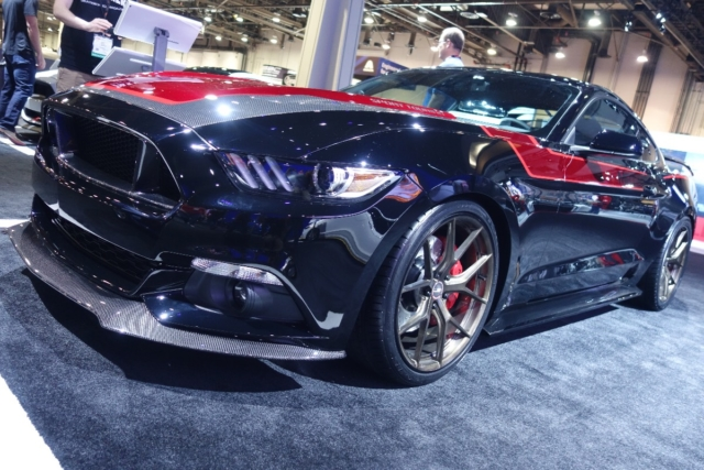 The MRT EcoBoost Mustang is subtle in its outward approach a splash of color and a dash of carbon fiber accent the black S550. It is, however, the Vortech-supercharged EcoBoost engine underhood that really makes it stand out.