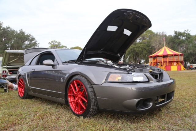 We've seen Terry Molin's turbocharged Cobra a  couple shows now and this beauty is definitely feature-worthy. It features a polished turbo setup topped off with nitrous. Inside it is equipped with a high-output custom audio system highlighted by an iPad Mini integrated into the dash.