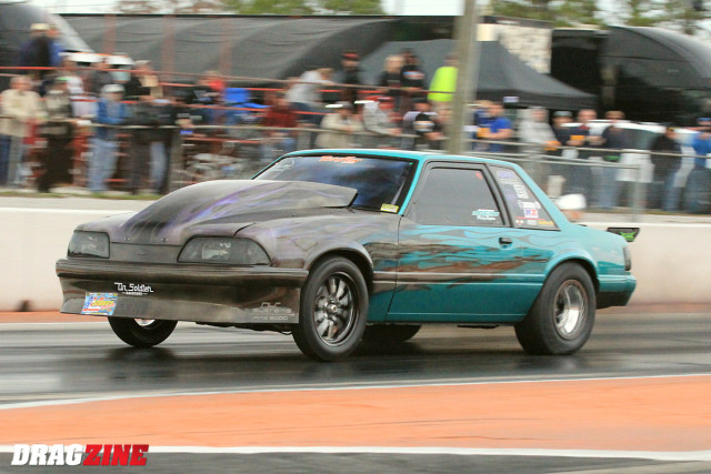 I can safely say no one is Surprised Shawn Pevlor is the top qualifier in Ultra Street running a 4.801 at 146.96. There are three other cars in the 4.80's this weekend though so things should get interesting Sunday.