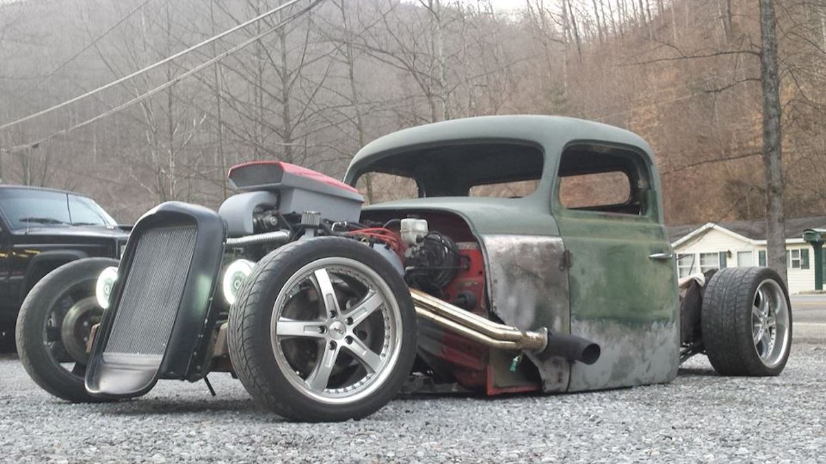 Wrecked Mustang Lives On As A Custom Rat Rod Truck