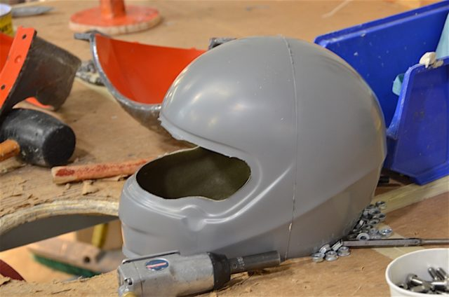 And that is how a helmet is born. Once out of its shell it will be cleaned up and sent to paint.