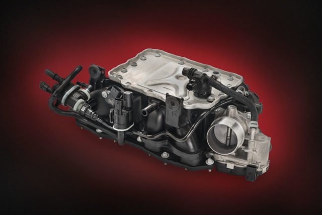 The new Ultramid plastics will debut on the Alfa Romeo Guilia, as seen here with the engine's manifold. Photo credit: BASF