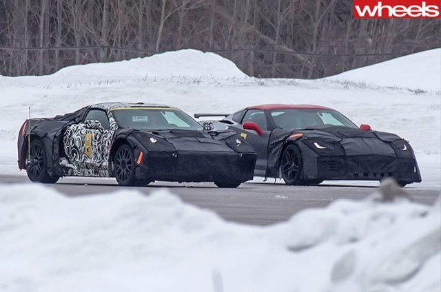 Corvette-test-mules