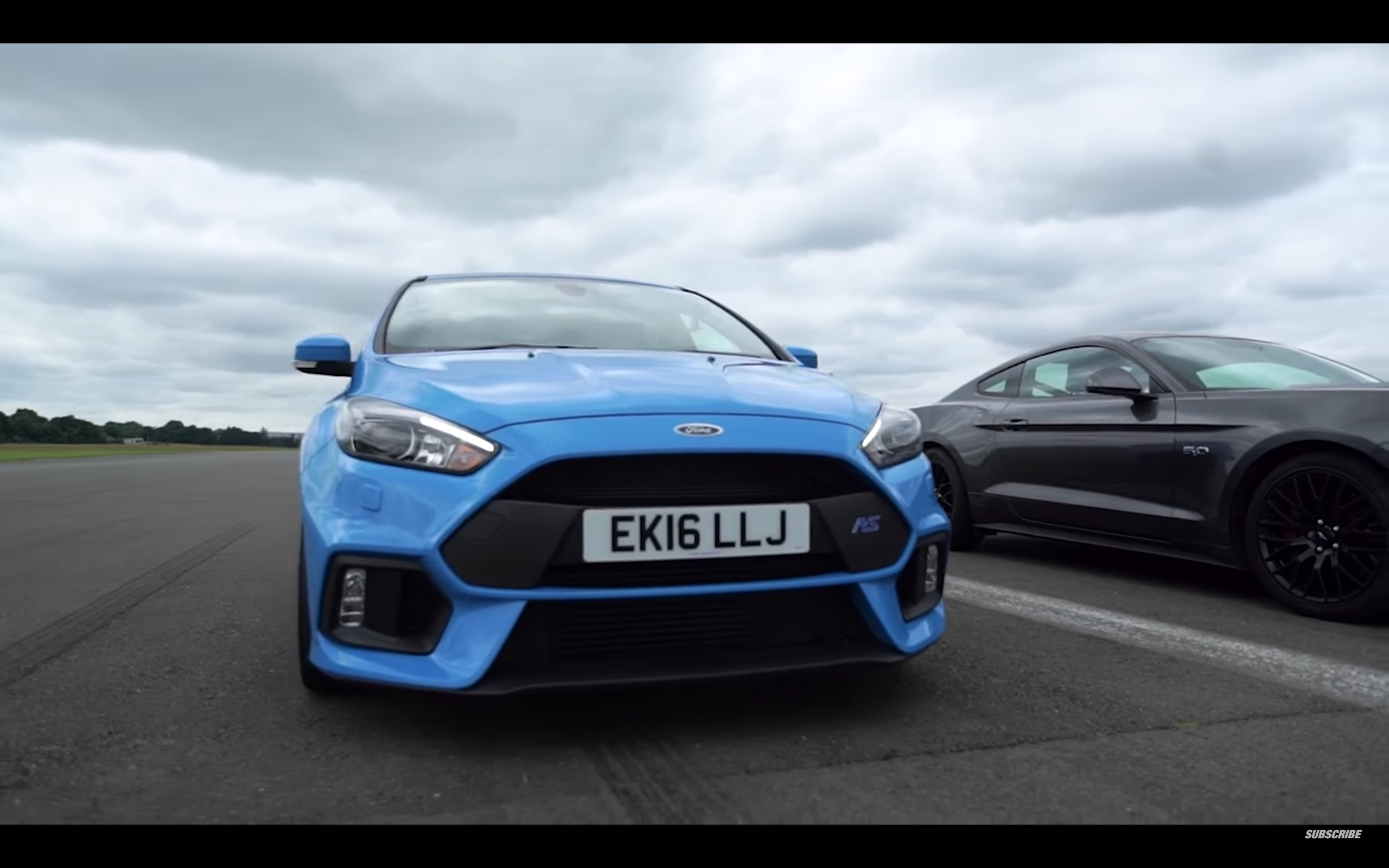 Blue Oval Battle As Focus RS And Ford Mustang Go Head-To-Head