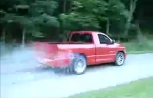 Video: Dodge SRT10 Ram Burnout Becomes Rollover