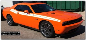 New Header Orange Color Spotted on the '12 Dodge Challenger